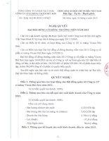Nghị quyết Đại hội cổ đông thường niên năm 2013 - Công ty cổ phần Xi măng Vicem Bút Sơn