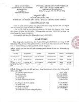 Nghị quyết Hội đồng Quản trị ngày 8-7-2011 - Công ty Cổ phần Xây dựng và Giao thông Bình Dương