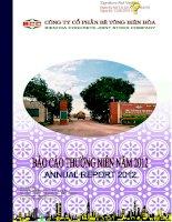 Báo cáo thường niên năm 2012 - Công ty Cổ phần Bê tông Biên Hòa