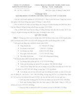 Nghị quyết Đại hội cổ đông thường niên năm 2010 - Công ty Cổ phần Khoáng sản Bắc Kạn