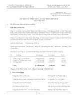 Báo cáo tài chính hợp nhất quý 4 năm 2010 - Công ty Cổ phần Dịch vụ Bến Thành