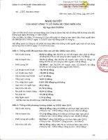 Nghị quyết Hội đồng Quản trị - Công ty Cổ phần Bê tông Biên Hòa