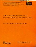 Báo cáo tài chính năm 2012 (đã kiểm toán) - Công ty Cổ phần Dịch vụ Bến Thành