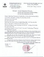 Báo cáo tài chính công ty mẹ quý 4 năm 2015 - Ngân hàng Thương mại cổ phần Đầu tư và Phát triển Việt Nam