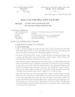 Báo cáo thường niên năm 2007 - Công ty cổ phần Khoáng sản Bình Định