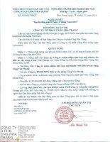 Nghị quyết Hội đồng Quản trị - Công ty Cổ phần Cảng Nha Trang