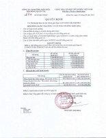 Báo cáo tài chính công ty mẹ quý 4 năm 2014 - Công ty Cổ phần Đường Biên Hoà