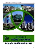 Báo cáo thường niên năm 2015 - Công ty Cổ phần Xây dựng và Giao thông Bình Dương