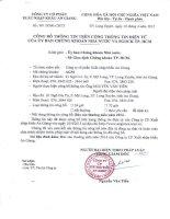 Báo cáo thường niên năm 2014 - Công ty cổ phần Xuất nhập khẩu An Giang