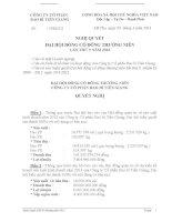Nghị quyết Đại hội cổ đông thường niên năm 2013 - Công ty Cổ phần Bao bì Tiền Giang
