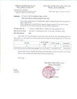 Báo cáo tài chính năm 2014 (đã kiểm toán) - Công ty cổ phần Đầu tư và Phát triển Công nghiệp Bảo Thư