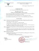 Nghị quyết Hội đồng Quản trị - Công ty Cổ phần Chế biến và Xuất nhập khẩu Thuỷ sản Cà Mau