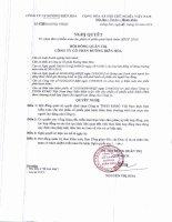 Nghị quyết Hội đồng Quản trị - Công ty Cổ phần Đường Biên Hoà