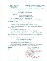 Báo cáo tài chính công ty mẹ quý 1 năm 2016 - CTCP Cảng Đà Nẵng