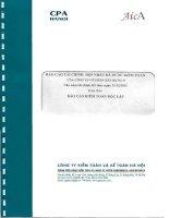 Báo cáo tài chính hợp nhất năm 2012 (đã kiểm toán) - Công ty Cổ phần Xây dựng 47
