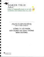 Báo cáo tài chính quý 2 năm 2011 (đã soát xét) - Công ty Cổ phần Xây dựng và Giao thông Bình Dương