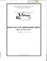 Báo cáo tài chính quý 2 năm 2013 - Công ty Cổ phần Xi măng Bỉm Sơn