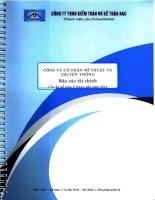 Báo cáo tài chính quý 2 năm 2014 (đã soát xét) - Công ty Cổ phần Mĩ thuật và Truyền thông
