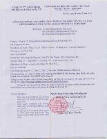 Nghị quyết Đại hội cổ đông bất thường - Công ty cổ phần Chứng khoán Ngân hàng Đầu tư và Phát triển Việt Nam
