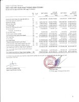 Báo cáo KQKD công ty mẹ quý 4 năm 2012 - Công ty cổ phần Thế kỷ 21