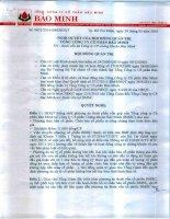 Nghị quyết Hội đồng Quản trị - Tổng Công ty Cổ phần Bảo Minh