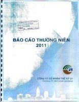 Báo cáo thường niên năm 2011 - Công ty cổ phần Thế kỷ 21