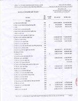 Báo cáo tài chính quý 4 năm 2013 - Công ty Cổ phần Khoáng sản Vinas A Lưới