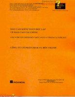 Báo cáo tài chính năm 2013 (đã kiểm toán) - Công ty Cổ phần Dịch vụ Bến Thành