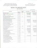 Báo cáo tài chính quý 1 năm 2015 - Công ty Cổ phần Sách và Thiết bị Bình Định