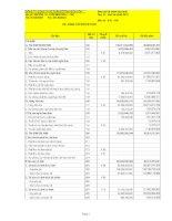 Báo cáo tài chính hợp nhất quý 4 năm 2010 - Công ty Cổ phần Bê tông Biên Hòa