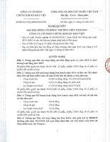 Nghị quyết Đại hội cổ đông thường niên - Công ty Cổ phần Chứng khoán Bảo Việt