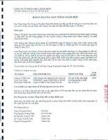 Báo cáo tài chính công ty mẹ năm 2011 (đã kiểm toán) - Công ty Cổ phần Nhựa Bình Minh