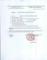 Báo cáo tài chính quý 2 năm 2015 - Công ty Cổ phần Chứng khoán Bảo Việt
