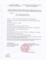 Báo cáo thường niên năm 2015 - Công ty cổ phần Cấp thoát nước Bình Định