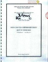 Báo cáo tài chính hợp nhất quý 4 năm 2013 - Công ty Cổ phần Xi măng Bỉm Sơn