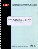 Báo cáo tài chính năm 2013 (đã kiểm toán) - Công ty cổ phần Đầu tư và Phát triển Đô thị Dầu khí Cửu Long