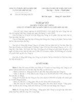 Nghị quyết Hội đồng Quản trị ngày 22-7-2010 - Công ty Cổ phần Chế tạo Biến thế và Vật liệu điện Hà Nội