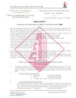 Nghị quyết Đại hội cổ đông thường niên năm 2008 - Công ty Cổ phần Chương Dương