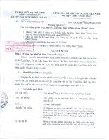 Nghị quyết Hội đồng Quản trị ngày 05-11-2009 - Công ty Cổ phần Đầu tư Xây dựng Bình Chánh