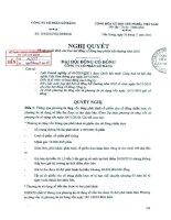 Nghị quyết Đại hội cổ đông bất thường ngày 26-11-2010 - Công ty Cổ phần Gò Đàng