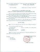 Nghị quyết Hội đồng Quản trị - Công ty Cổ phần Phát triển Phụ gia và Sản phẩm Dầu mỏ