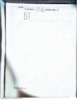 Đề thi các năm  toán a1 phần 2 IUH TRUONG DAI HOC CONG NGHIEP TP HCM