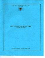 Báo cáo tài chính hợp nhất quý 3 năm 2014 - Công ty Cổ phần Chế biến và Xuất nhập khẩu Thuỷ sản Cà Mau