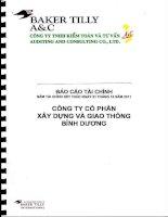 Báo cáo tài chính năm 2011 (đã kiểm toán) - Công ty Cổ phần Xây dựng và Giao thông Bình Dương