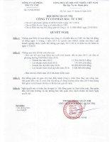 Nghị quyết Hội đồng Quản trị - Công ty Cổ phần Đầu tư CMC