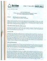 Báo cáo tài chính năm 2011 (đã kiểm toán) - Công ty Cổ phần Bia Hà Nội - Hải Phòng