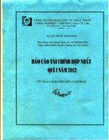 Báo cáo tài chính hợp nhất quý 1 năm 2012 - Công ty Cổ phần Đầu tư Phát triển Công nghiệp - Thương mại Củ Chi