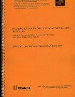 Báo cáo tài chính quý 2 năm 2011 (đã soát xét) - Công ty Cổ phần Chứng Khoán Chợ Lớn
