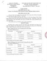 Nghị quyết Hội đồng Quản trị ngày 25-10-2010 - Công ty Cổ phần Xây dựng và Giao thông Bình Dương