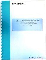 Báo cáo tài chính năm 2010 (đã kiểm toán) - Công ty Cổ phần Chứng khoán ALPHA